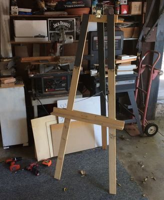 Medium recycled easel by stefanie girard