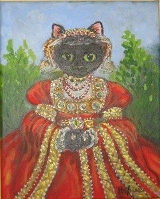 Medium queen cat