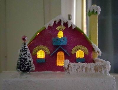 Medium princess putz cottage4 lighted