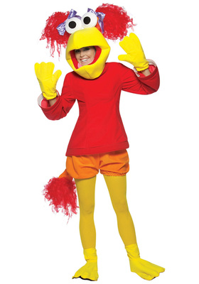Medium red fraggle rock costume zoom
