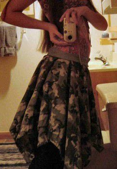 A quick skirt for winter .  Sew a full skirt in under 120 minutes by dressmaking with jeans and flannel. Creation posted by Sara B. Difficulty: Simple. Cost: Cheap.