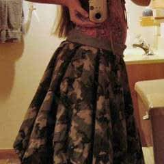 Camouflage Flannel Skirt