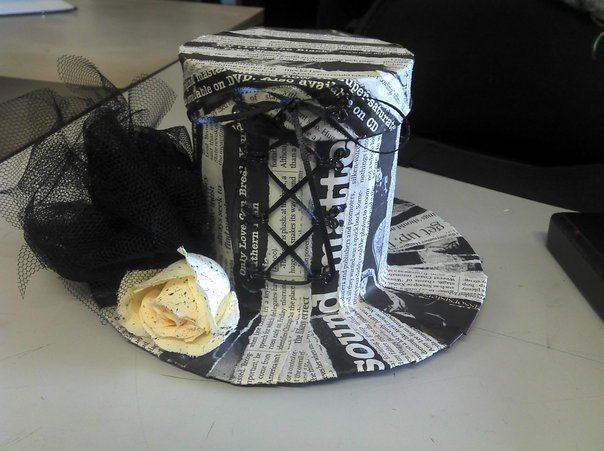 Decorating Hat Boxes Best Gothic Newspaper Top Hat Box · A Recycled Box · Art Construction Design Decoration