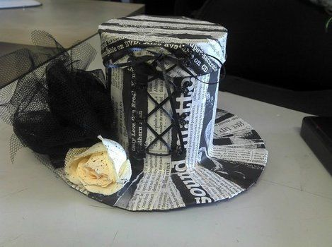 Cute Little Gothic Lolita Trinket Box^-^ .  Make a recycled box by creating, constructing, decorating, and embellishing with ribbon, cardboard, and newspaper. Inspired by lolita and gothic. Creation posted by TeeHee It's MeeMee. Difficulty: 4/5. Cost: No cost.