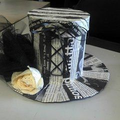 Gothic Newspaper Top Hat Box