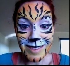 How to face paint a tiger .  Free tutorial with pictures on how to create a face painting in under 10 minutes by creating, applying makeup, decorating, and applying makeup with paint, paint, and water. Inspired by parties, kids, and animals. How To posted by Helen E. Difficulty: Easy. Cost: 3/5. Steps: 1