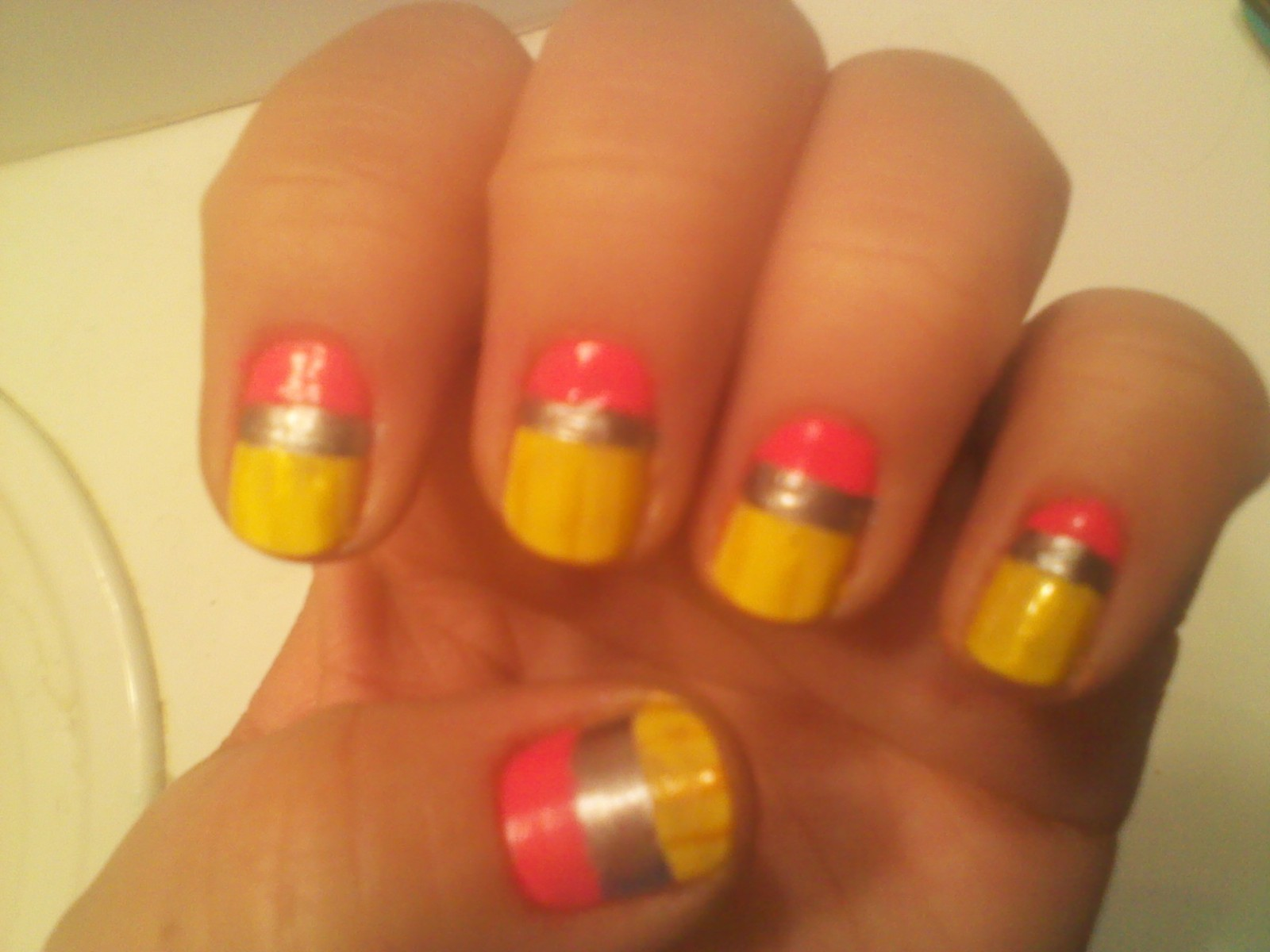 Back To School Nail Art How To Paint A Themed Nail Manicure Nail
