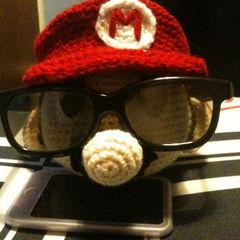 Mario Head Glasses Holder