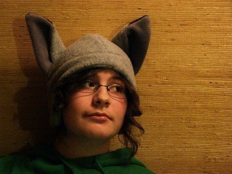 Hat with ears!  .  Make an animal hat in under 60 minutes by needleworking and sewing with fabric, thread, and sewing machine. Inspired by anime & manga, cats, and creatures. Creation posted by Keladrey. Difficulty: Simple. Cost: No cost.