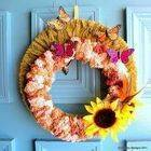 Fall Wrapped Yarn Wreath