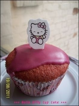 Kawaii, cup cake, .  Decorate an animal cake in under 30 minutes by baking and cake decorating with muffins. Inspired by cats, kawaii, and cupcakes. Creation posted by Tamisa S. Difficulty: Easy. Cost: Cheap.