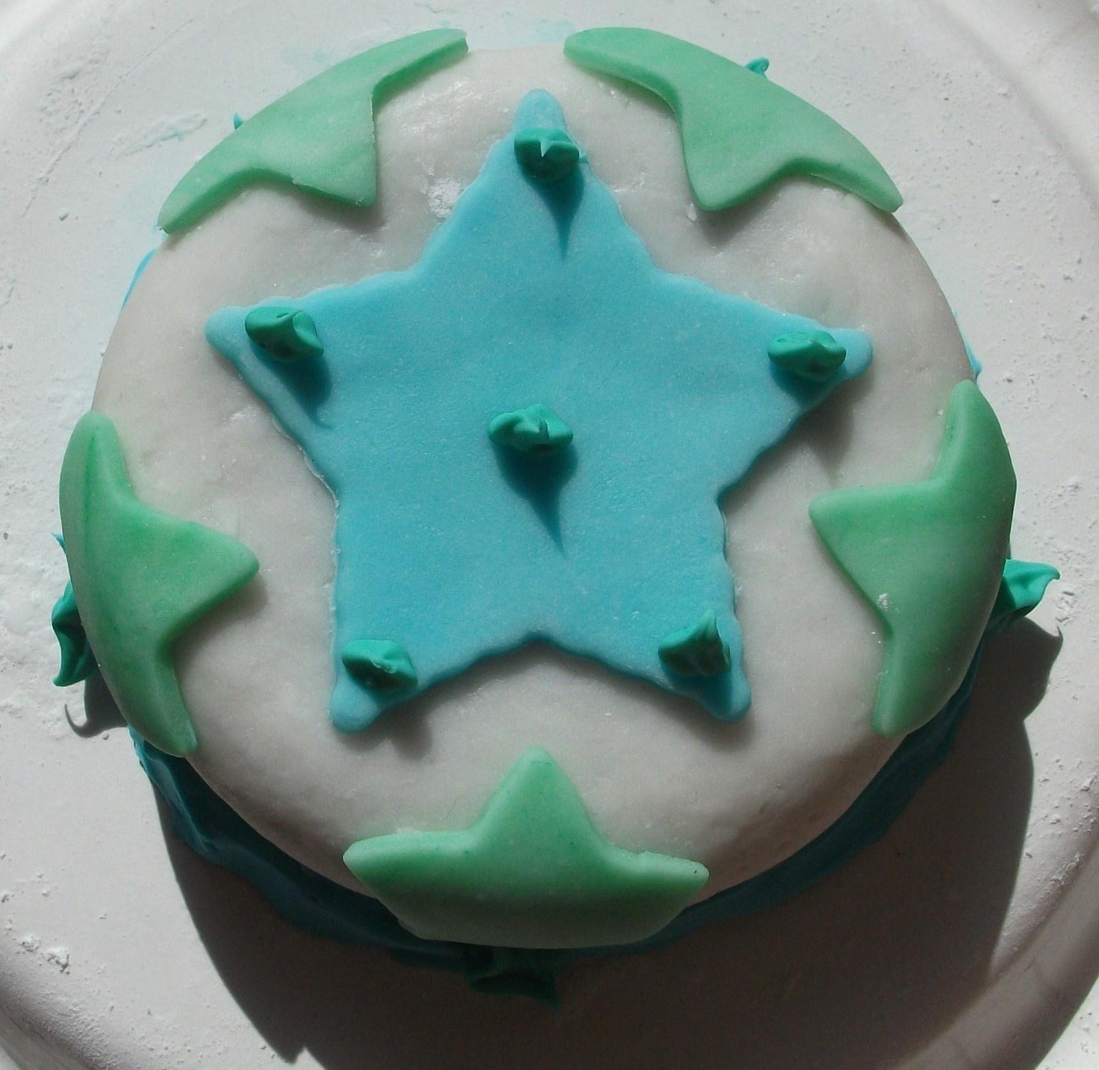 Star Fondant Cake 183 A Patterned Cake 183 Baking Food
