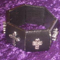 Gothic Panel Cross Bracelet