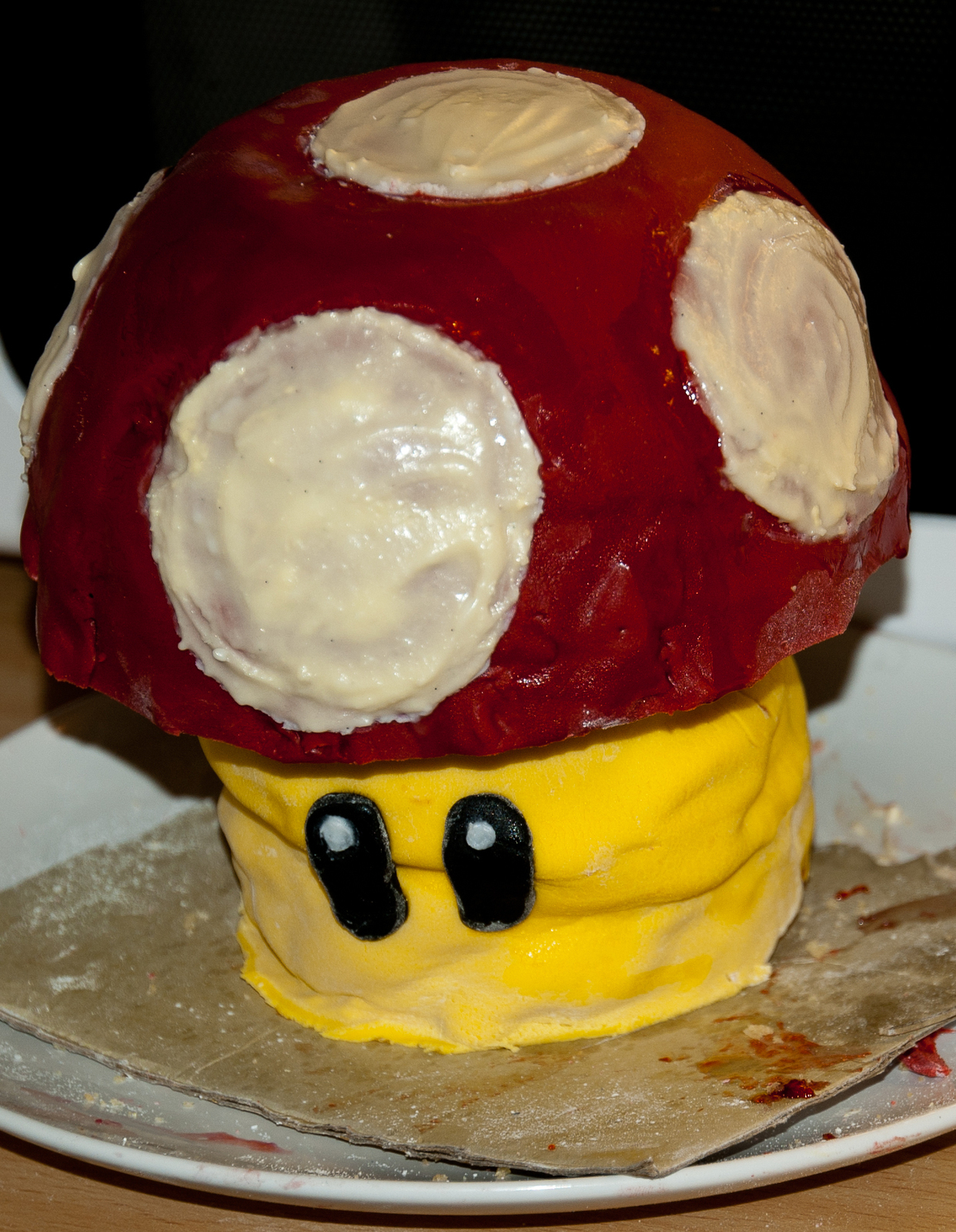 Cool Super Mario Mushroom Cake A Computer Game Cake Baking And Food Personalised Birthday Cards Beptaeletsinfo