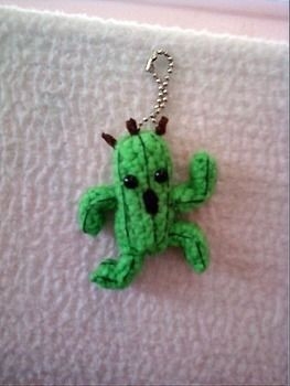 If anyone dares to go near your backpack...1000 needles attack! .  Stitch a knit or crochet keyring in under 40 minutes by needleworking, sewing, yarncrafting, crocheting, and amigurumi with felt, thread, and yarn. Inspired by anime & manga, costumes & cosplay, and final fantasy. Creation posted by Shirls. Difficulty: 3/5. Cost: Absolutley free.