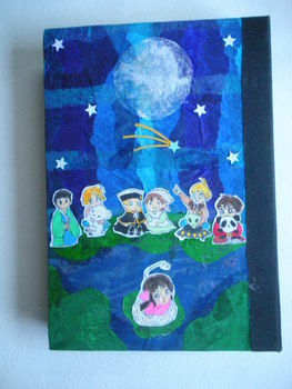 For ceramics class .  Make a sketchbook by creating, drawing, papercrafting, bookbinding, collage, decoupaging, scrapbooking, sewing, and decorating with paper, needle, and embroidery thread. Inspired by anime & manga. Creation posted by Ammelanoleuca. Difficulty: 3/5. Cost: Cheap.