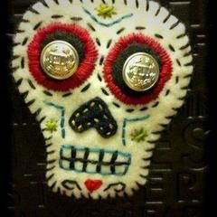Sugar Skull Brooch