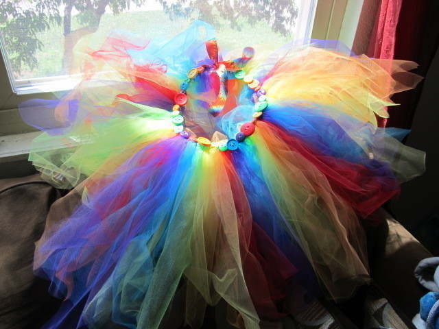 Rainbow Tutu 183 Baby Skirt 183 Embellishing And No Sew On Cut