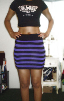 Cute bodycon skirt in no time .  Free tutorial with pictures on how to recycle a sweater into a skirt in under 30 minutes by sewing with scissors, thread, and needle. Inspired by clothes & accessories. How To posted by Dametria G. Difficulty: Easy. Cost: No cost. Steps: 4