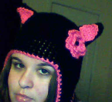 Cute cat eared hat .  Free tutorial with pictures on how to make an animal hat in under 180 minutes by sewing, yarncrafting, and crocheting with yarn and yarn. Inspired by cats, creatures, and lolita. How To posted by Rachel A. Difficulty: Simple. Cost: Cheap. Steps: 1