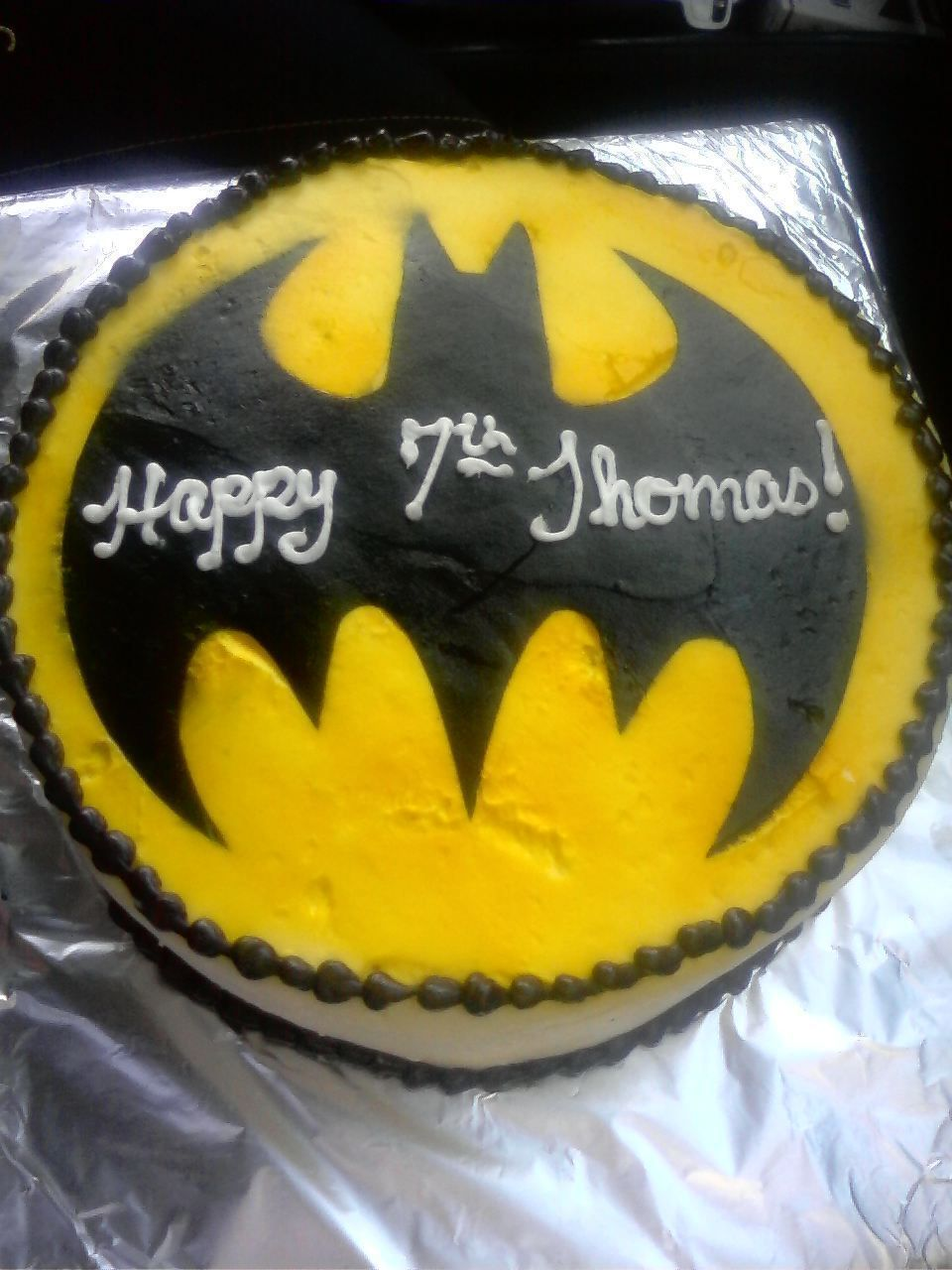 How To Make A Bat Signal Cake
