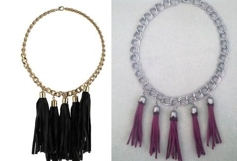 Make your own and save the pennies .  Free tutorial with pictures on how to make a tassel necklace in under 60 minutes by jewelrymaking with thread, glue, and needle. Inspired by clothes & accessories. How To posted by Libby W. Difficulty: Easy. Cost: Cheap. Steps: 4