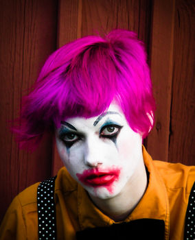A  sad/evil clown dress up - just for the sake of Tuesdays .  Create a face painting in under 60 minutes by applying makeup and applying makeup with face paint and clothes. Inspired by costumes & cosplay, clowns, and clowns. Creation posted by EmmaThePrincess.  in the Beauty section Difficulty: Simple. Cost: Absolutley free.