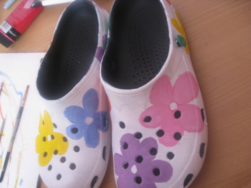 Flower Power Crocs 183 How To Make A Shoe 183 Decorating