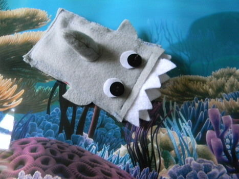 Go Shark Week Go .  Sew a fabric animal pouch in under 30 minutes by sewing with felt, felt, and felt. Inspired by kawaii. Creation posted by hannah t. Difficulty: Simple. Cost: Cheap.