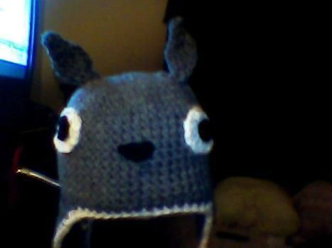 Cute totoro hat .  Make an animal hat in under 120 minutes by sewing and crocheting with yarn, yarn, and yarn. Inspired by anime & manga, monsters, and kawaii. Creation posted by Rachel A. Difficulty: Simple. Cost: No cost.