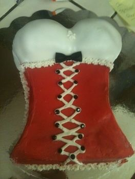 Fun option for a bachelorette party. .  Decorate a body part cake in under 150 minutes by baking with cake mix, fondant, and brownie mix. Creation posted by Nicole C. Difficulty: 3/5. Cost: 3/5.