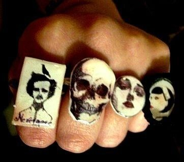 Halloween Rings .  Make a resin ring in under 30 minutes by jewelrymaking and resinworking with lace, images, and fimo. Creation posted by Andrea. Difficulty: Easy. Cost: 3/5.