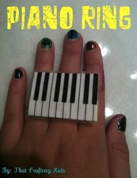Want to play music literally at your fingertips? Now you can! .  Free tutorial with pictures on how to make a duct tape ring in under 5 minutes by creating with scissors, paper, and super glue. Inspired by music & bands and clothes & accessories. How To posted by That Crafting Kid. Difficulty: Simple. Cost: Cheap. Steps: 4