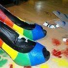 'Rainbow On My Feet' Stilettos