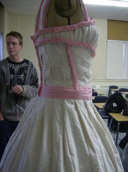 Yes, it really is toilet paper. .  Recycle a paper dress by braiding, constructing, sewing, and weaving with tape. Inspired by clothes & accessories. Creation posted by GeminiPearl. Difficulty: 4/5. Cost: No cost.