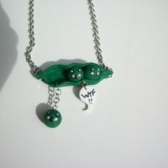Pea Falling From Pod Necklace
