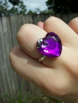 Easy cheap and pretty! .  Make a gemstone ring in under 20 minutes by embellishing and jewelrymaking with ring base and stone. Inspired by lolita, kawaii, and hearts. Creation posted by Sally M. Difficulty: Easy. Cost: Absolutley free.