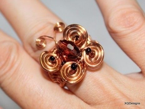 Butterfly rings .  Make a ring by jewelrymaking and wireworking with copper. Inspired by butterflies and clothes & accessories. Creation posted by Jane. Difficulty: 4/5. Cost: Cheap.