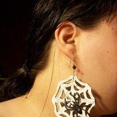 Foam Spider Web Earrings