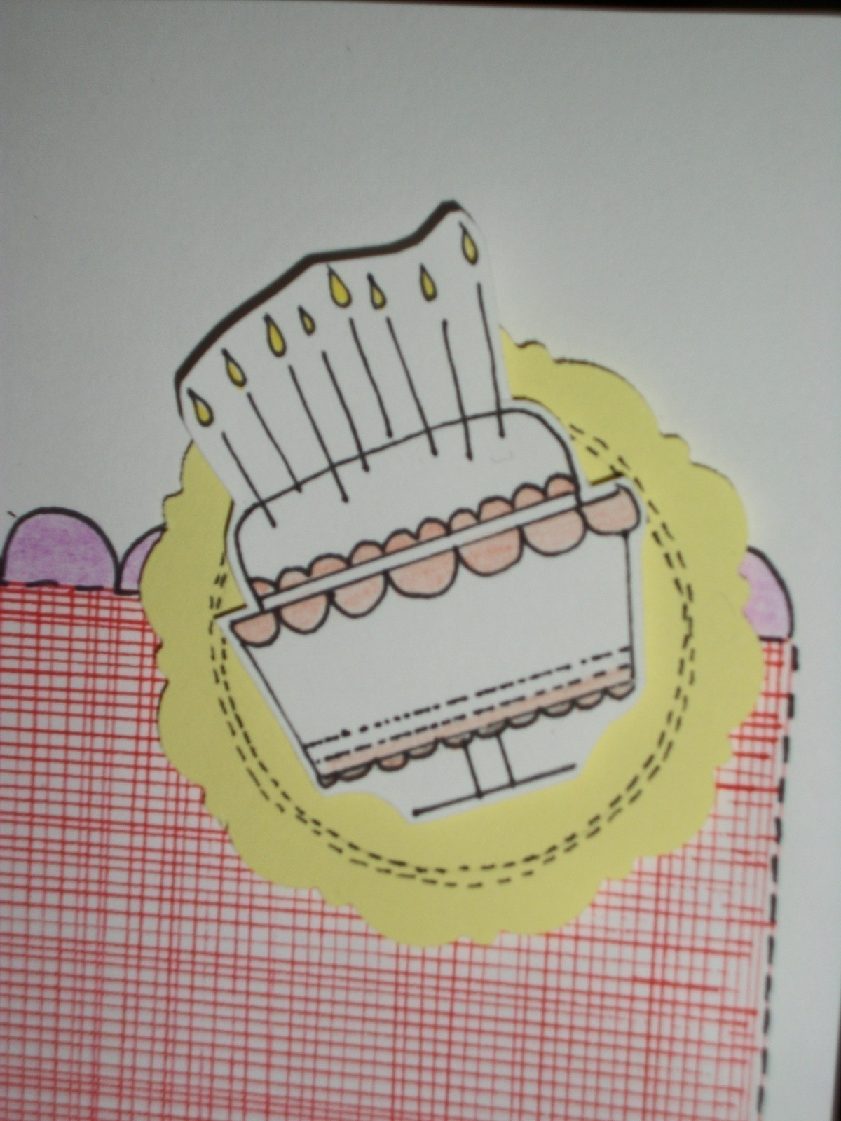 Birthday Cake Card A Greetings Card Cardmaking On Cut Out Keep