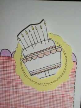 Piece of cake ;) .  Make a greetings card in under 15 minutes by cardmaking with scissors, paper, and pencil. Inspired by cake. Creation posted by Birgit. Difficulty: Easy. Cost: No cost.