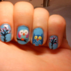Owl Nails :)