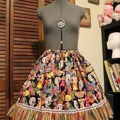 Day Of The Dead Skirt