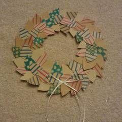 Coffee Cardboard Recycled Wreath