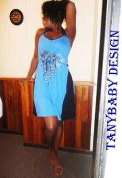 This project is verry simple and cute . .  Free tutorial with pictures on how to sew a t-shirt dress in under 120 minutes by sewing with fabric, t shirt, and elastic. Inspired by clothes & accessories. How To posted by tany b. Difficulty: Easy. Cost: Absolutley free. Steps: 10