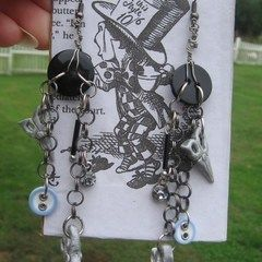 'Mad Hatter' Theme Earrings