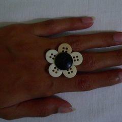 Flower Button Ring