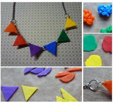 Everyday Celebration Perler Bead Necklace :) (without the peg board) .  Free tutorial with pictures on how to make a beaded pendant in under 30 minutes by fusing and melting with scissors, felt, and needle. How To posted by EVEnl. Difficulty: Simple. Cost: Absolutley free. Steps: 9