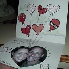 Balloons Valentine's Card
