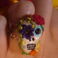 Day Of The Dead Inspired Ring